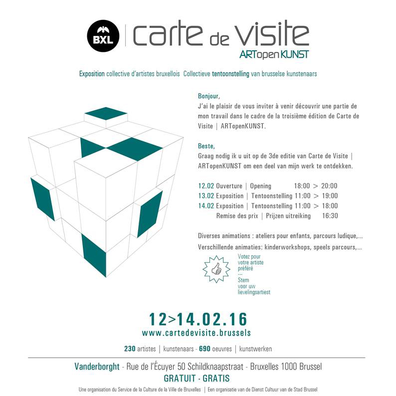 February 2016 Exhibition Carte De Viste In Brussels Diana Valarezo